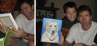 pet painting from photo