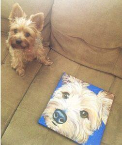 custom dog portrait san fransisco