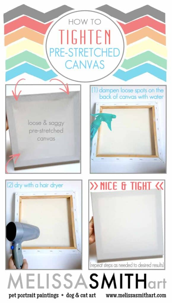 How-To-Shrink-Tighten-Pre-Stretched-Canvas