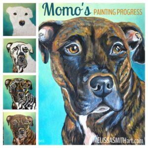 How I paint custom portraits of pets: the 7 steps of my creative process